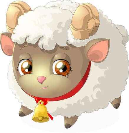shepherd with sheep: sheep