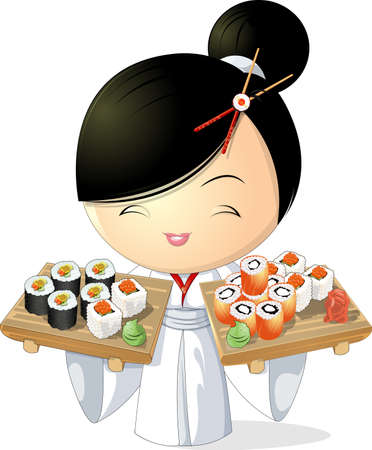 Chica sushi Foto de archivo - 30221179