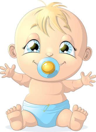 pacifier: bebé Vectores