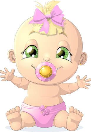 Baby Girl Standard-Bild - 30553178
