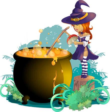 witchery: hallowen Illustration