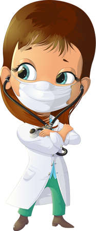 clinical staff: handsome doctor with stethoscope image on a white background