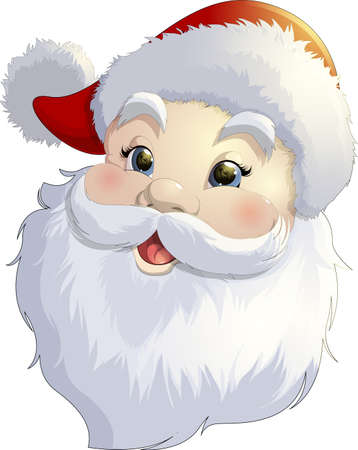 christmas gifts: Beautiful festive Santa Claus on a white background