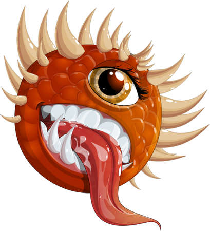 hellish: Flying hellish monster Illustration