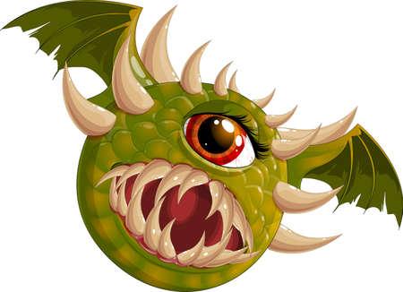 Flying hellish monster Illustration