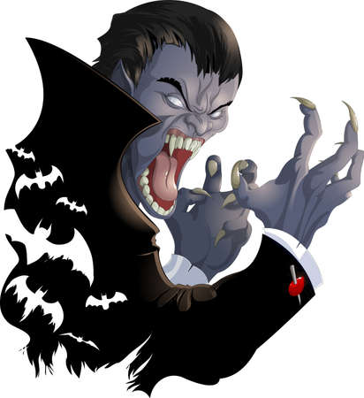 evil vampire picture Illustration