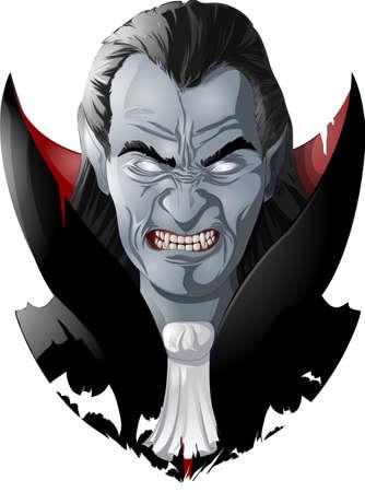 evil vampire picture Illustration