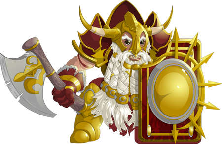 mighty: mighty fantasy dwarf armor on a white background