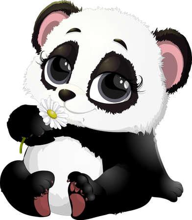 Leuke Panda beer illustraties
