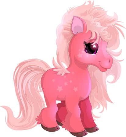 little beautiful pony Illustration