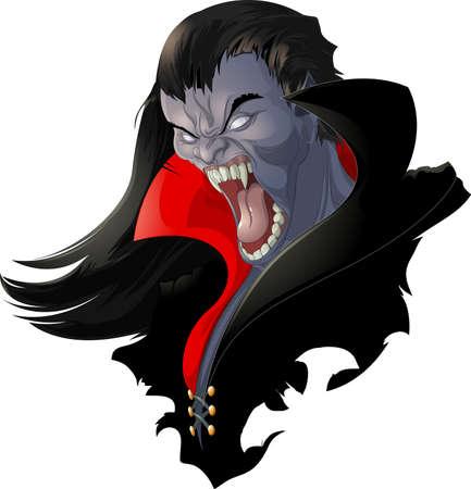 evil vampire 矢量图片