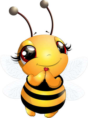 Schöne nette Bienenillustration Vektorgrafik