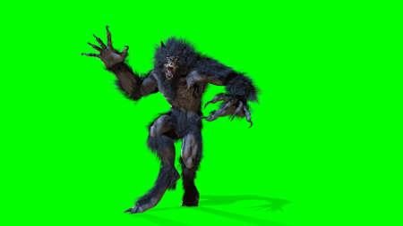 Werwolf 3D-Rendering Standard-Bild
