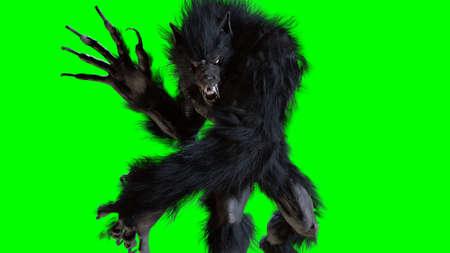 Werwolf 3D-Rendering