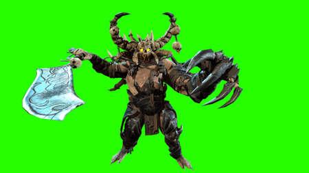 demon 3d render