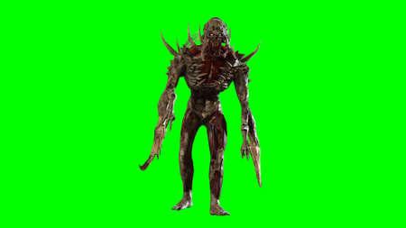Nuclear post-apocalypse mutant 3d render