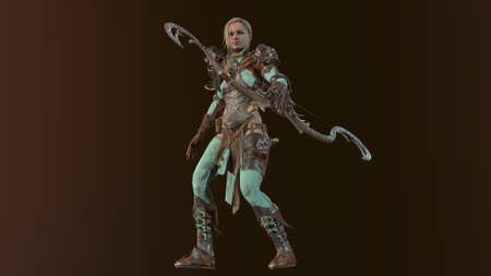 Elf Beautiful Woman 3d render