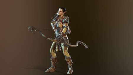 Elf Beautiful Woman 3d render