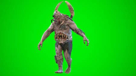 Nuclear post-apocalypse mutant soldier 3d render Banco de Imagens - 125610765
