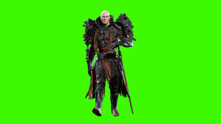 Dark knight 3d render on chromakey background Stock Photo
