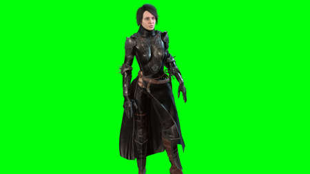 Dark knight 3d render on chromakey background