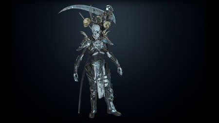 Necromancer, render 3D models on the background of chromakey Imagens