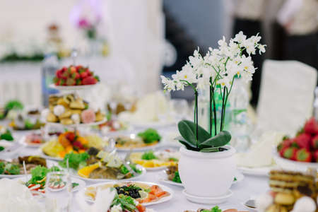 wedding decorations with flowers, decorations for celebrations Stock Photo