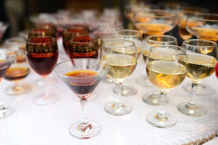 drinking different kinds of close-up before a party in a cafe