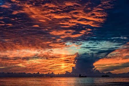 Sunset Mediterranean Sea Lighthouse Livorno