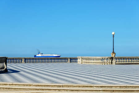 Ferry Terrazza Mascagni Livorno Ligurian Sea Stock Photo - 97353708