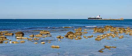 Rocks Ligurian Sea coast Livorno