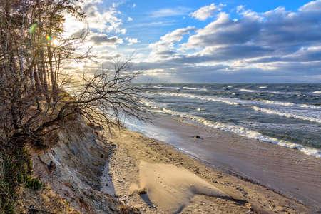 Wave Dune beach Baltic Sea West Pomerania