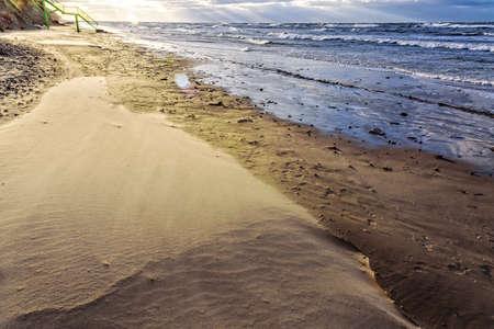Sunrise Baltic Sea beach Dune Archivio Fotografico
