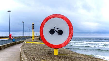 Traffic sign Kolberg promenade