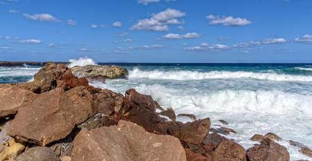 Rocks Mediterranean coast storm