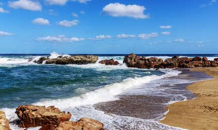 Sand bay Castelsardo Mediterranean coast