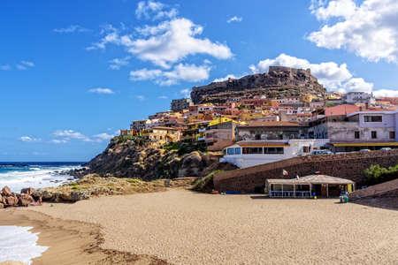 Beach sandy bay Castelsardo Mediterranean Sea
