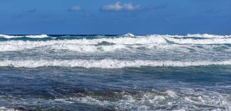 Storm wave Mediterranean