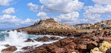 Breakwater Castelsardo Mediterranean Sea