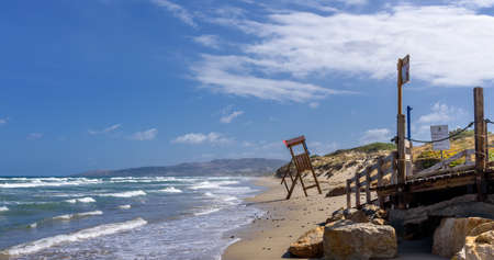 Duene rock beach Mediterranean Sea