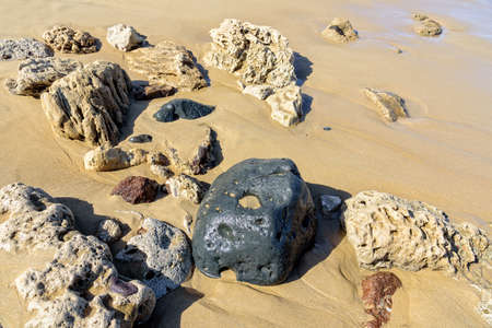 Stones beach sand