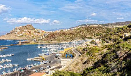 Castle harbor Castelsardo Mediterranean Sardinia