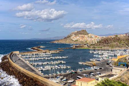 Port Castelsardo Mediterranean Promenade Sardinia