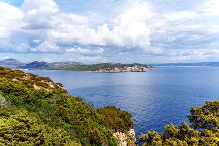 Bay Capo Caccia Mediterranean Sardinia Archivio Fotografico