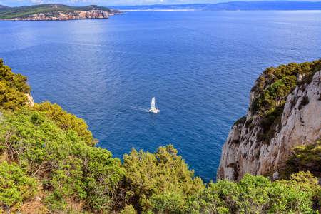 Capo Caccia sailboat Mediterranean Sardinia