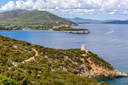 Forest bay Capo Caccia Mediterranean Sardinia