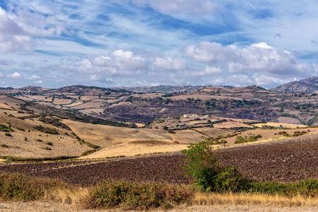 Farm Field Meadow Mountain Sardinia