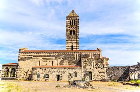 Santissima Trinita di Saccargia Comune di Codrongianos Sardinia Archivio Fotografico