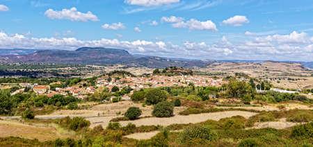Bosa city mountains Sardinia