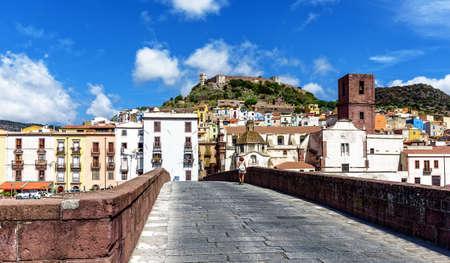 Bridge Bosa town Castello Malaspin Sardinia